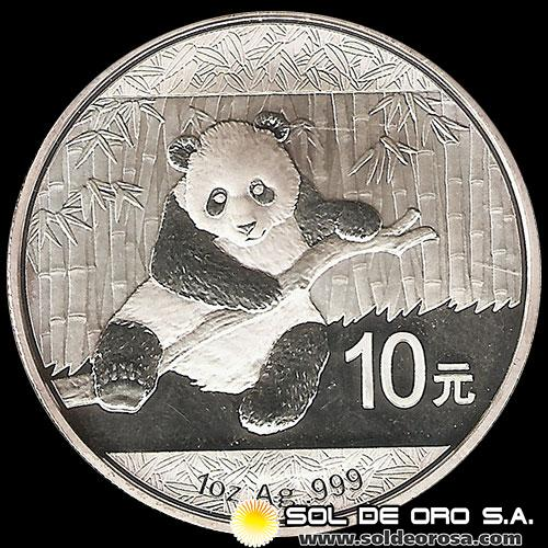 NCM - CHINA - PANDA 1 oz., 10 - 2014 - MONEDA DE PLATA