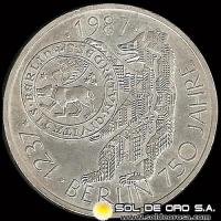 NA1 - ALEMANIA - 10 MARK - 1987.j - Subject: 750th Anniversary - Berlín - MONEDA DE PLATA