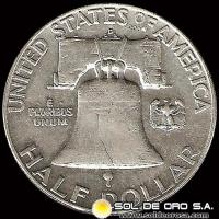 NA3 - ESTADOS UNIDOS - UNITED STATES - FRANKLIN HALF DOLLAR, 1961 - MONEDA DE PLATA
